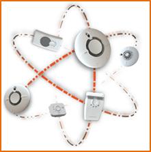 Wi-Safe 2 detektori uz baterijam bezvadu tīklā