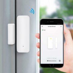 WL-HS-19DWT, WiFi bezvadu magnētiskais durvju/logu sensors, atsevišķi stāvošs